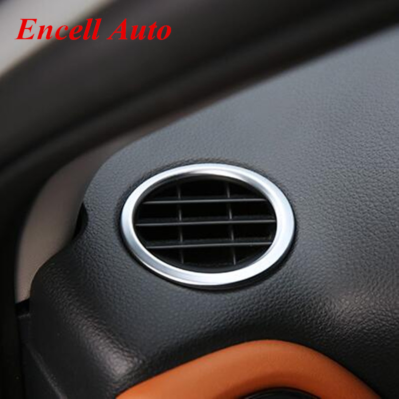 Car Covers Stainless Steel Air Conditioning Vent <font><b>Trim</b></font> Sequins Cover Sticker For <font><b>Honda</b></font> Vezel <font><b>HRV</b></font> HR-V 2014 2015 2016 accessories image
