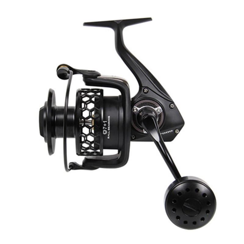 Trulinoya Distant Wheel 7+1BB/ 4.9:1 Full Metal Jig Ocean Boat Sea Trolling Reel Carretes Pesca Spinning Fishing Reel Molinete alloy diecast model trucks transport 1 50 engineering car vehicle scale truck collection gift toy