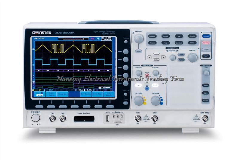 Arrivée rapide TaiWan Gwinstek GDS-2202A 200 MHz, 2 canaux, Oscilloscope de stockage numérique