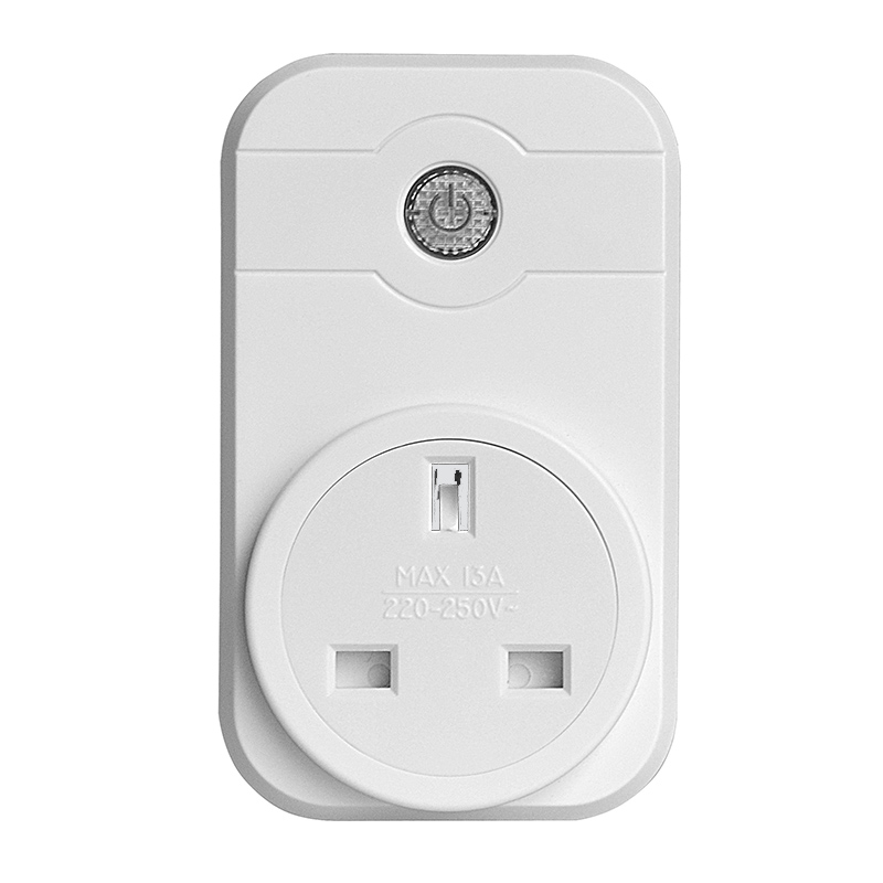 Gorelax UK wifi wireless remote control socket smart timer plug Smart Home Power Socket UK Standard Via App Phone wireless remote control power socket smart rf socket control power for home appliance compatible with g90b wifi gsm sms alarm