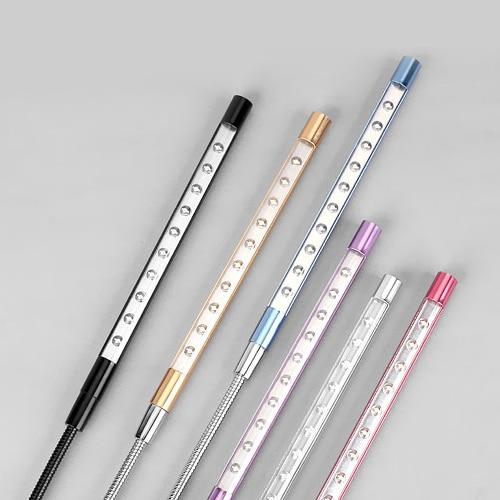 4PCS Super Bright Mini 10 LEDS USB Light Flexible Metal LED Lamp Book Reading Lights For Notebook Laptop PC Computer 6 Colors