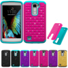 10pcs/lot For LG K10 / LG M2 Bling diamond Starry Rubber PC + Silicone Hybrid phone Case cover for LG K10 / LG M2