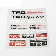 12x12cm TRD Sportiro Badge Sticker Set Refitting Car Styling Decals DIY Anywhere Body Window Exterior Interior Decor for Toyota