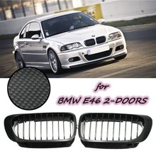 2016 Brand New  Coupe Carbon look FRONT HOOD GRILLE 01-06 For BMW E46 2D M3 ///M SPORT- 99-03 E46 2D