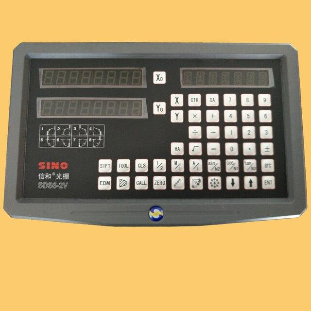 SINO SDS6 2 V multifunktionale fräsmaschine drehmaschine schleifer lineare skala gitter herrscher digital display DRO kostenloser versand