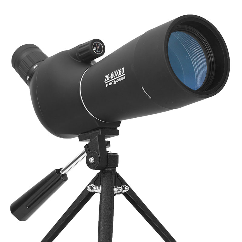 20-60X60 Zoom Spotting Scope with Tripod Bird Watching Hunting Shotting Monocular Telescope HD Optical Glass FMC Lens 20 60x70 zoom spotting scope monocular outdoor telescope with portable tripod monoculares professional bird animal telescope