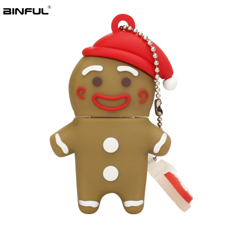 Image 5 - Pen Drive 64GB 128GB Christmas Tree Usb Flash Drive 32GB 16GB 8GB 4GB Cute Snowman Pendrive Usb 2.0 Gift Flash Memory Stick Key-in USB Flash Drives from Computer & Office