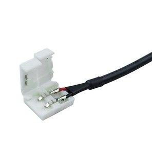 10 мм 2pin Женский DC адаптер Светодиодная лента Соединительный кабель для SMD 5050 5630 одноцветная Светодиодная лента Быстрое подключение к источн...