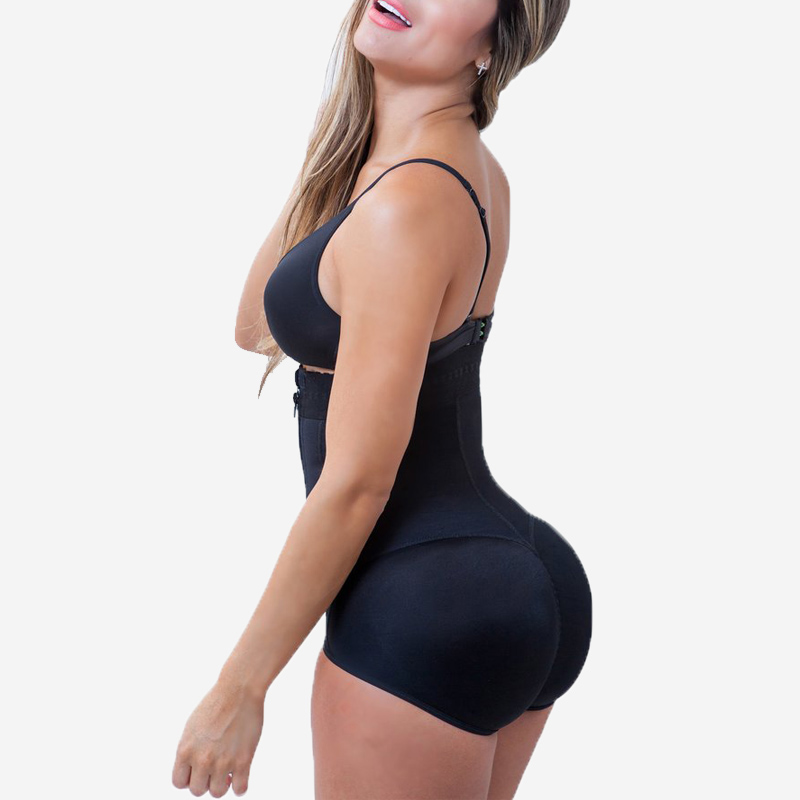Frauen Latex Shaper Taille Cincher Former Reißverschluss & Schnalle Full Body Shaper Bauch Taille Steuer Bodys Shapewear