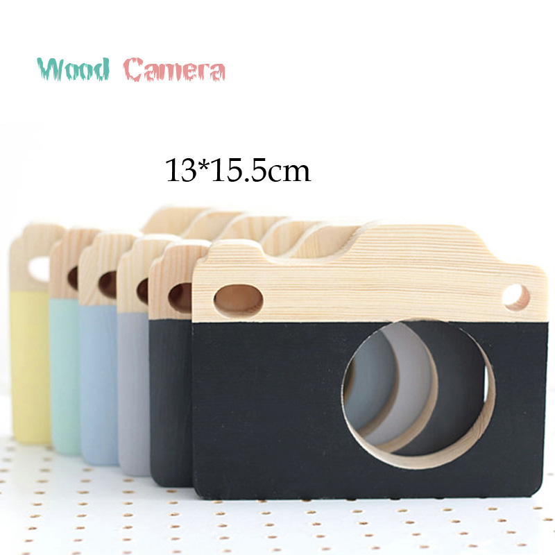 2017 Nordic Photography Props wooden Camera Decoration Crafts for Kids Room Cute Figurines/Miniatures Photo Frame Baby Gift