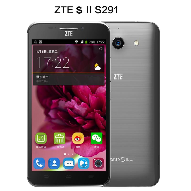 Original ZTE Grand s II S291 Mobile Phone Snapdragon 801 2GB RAM 16GB ROM WCDMA FDD