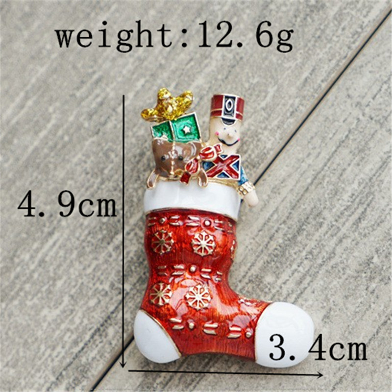 Weihnachten Brosche Zarten Roten Schuhe Santa Claus Stiefel Nette ...