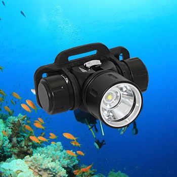Diving headlamp Scuba dive headlight XM-L2 Waterproof Swimming LED head lamp Underwater fishing light