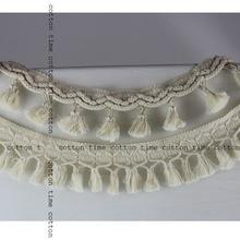 цена на 3/yards Macrame Cotton Tassel Fringe 6cm drop Tassel Trim 2 styles big tassel Sewing Accessory Deco Trim