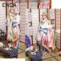 Amor ao vivo! todos os estados-membros Honoka Kotori Umi Eli Nozomi Maki Rin Hanayo Nico ano novo despertar kimono cosplay