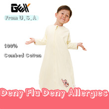 GEX (США) Для Весна/Осень Ребенка Пеленать Спальный Мешок Мешок Сна 100% Хлопок Младенческой Спящий Пижамы платье Одеяло YCat