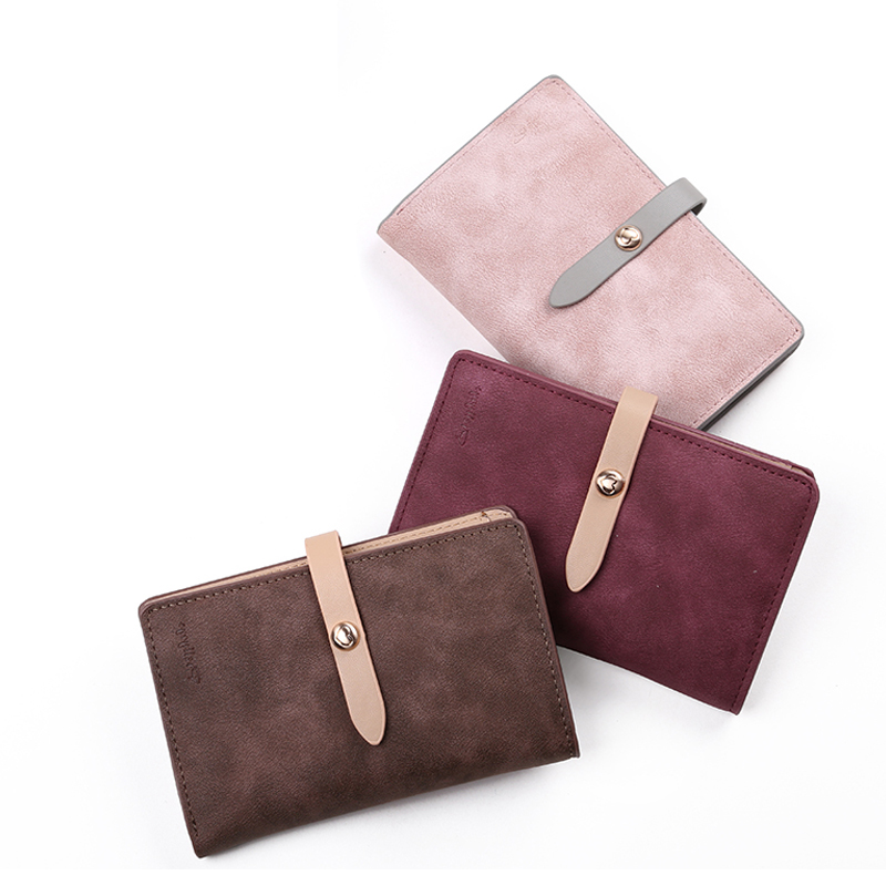 Prettyzys Brand New Women Nubuck Leather Wallet Lovely Hasp Change Purse Money Coin Card Holders wallets Carteras For Girls Gift carteras love heart women girls coin purse wallet card holders comfystyle si 26d