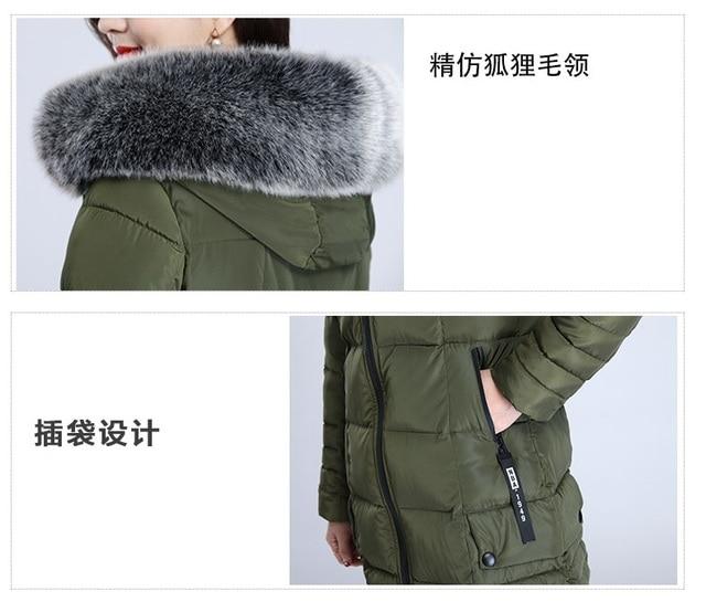 Plus size 5XL Winter Long Jacket 2018 New Winter Coats Women Big Fur Collar Warm Woman Parka Outerwear Down Jacket Winter Jacket 4