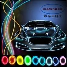 10 colori accessori auto Styling 5 m flessibile della luce al neon di incandescenza EL Con 12 v luci interne più leggero Decorativo FAI DA TE dash Porta
