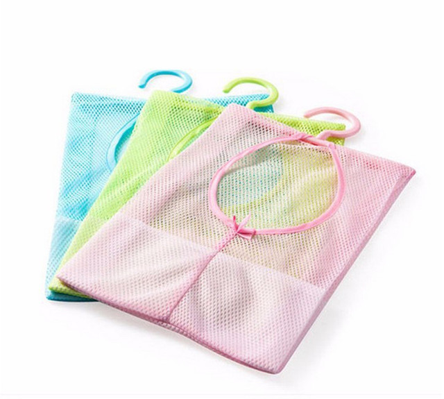 6 Pocket Bathroom Tub Shower Bath Hanging Mesh Organizer Caddy ...