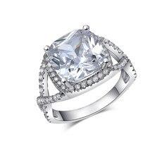 Infinito Vintage blanco plateado anillo de compromiso en forma de encanto de la boda gran Mástil mujeres sterling de plata-joyería accesorios LJ164