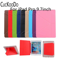 For IPad Pro 9 7 Ultra Slim Lightweight Smart Shell Stand TPU Leather Case Cover For