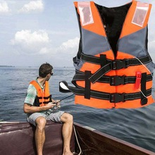 life jacket Fishing Life Vest Adult Reflective Adjustable Waistcoat Jacket for Swimming Drifting Boating