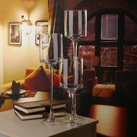 Newest Classic Tea Light Glass Candle Holders Candlestick Goblet Candlestick For Home Wedding Bar Pub Party