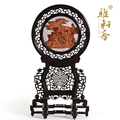 D Zhai rosewood woodcarving and ornaments gift Gallery rosewood sandalwood table screen cloth round screen