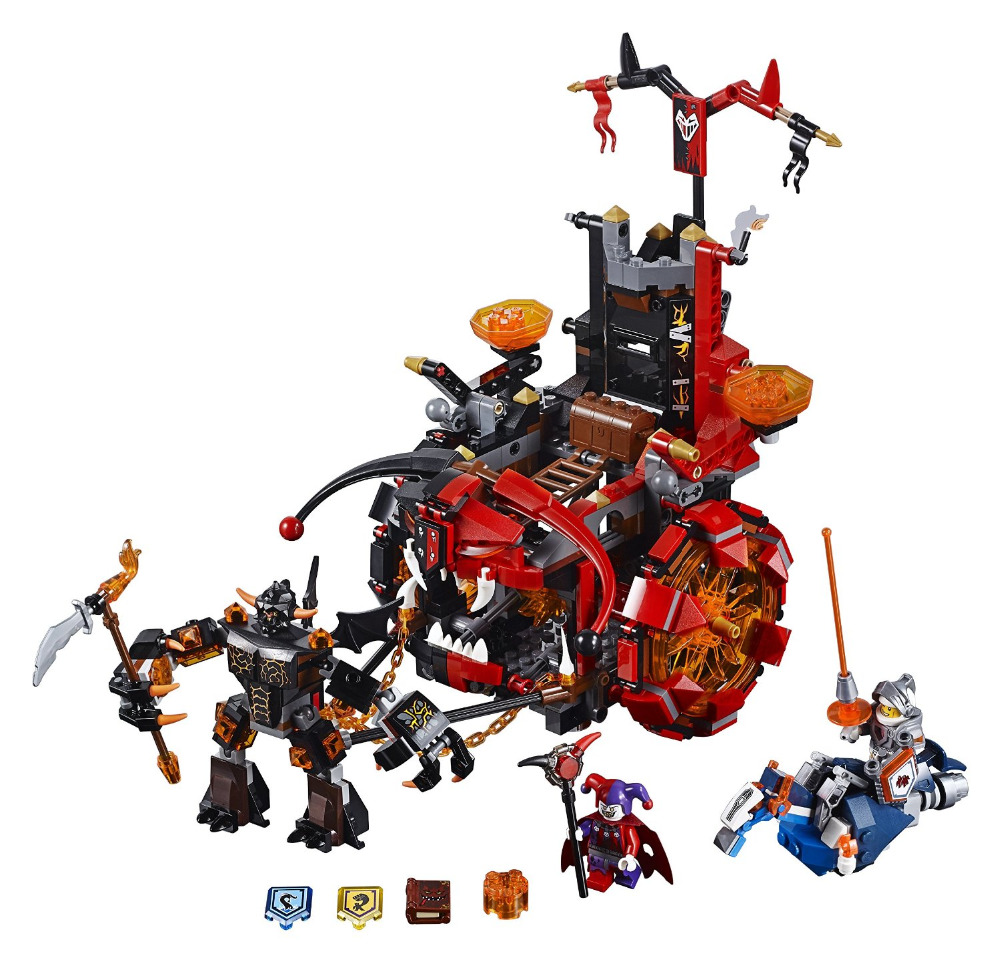 LEPIN Nexo Knights Jestro's Evil Mobile Combination Marvel Building Blocks Kits Toys Compatible Legoe Nexus недорого