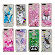 Bling Quicksand Case For Huawei Honor 7A Pro 3D Unicorn Liquid Glitter 5.7 inch Phone Cover