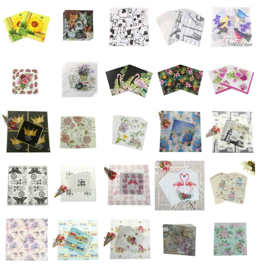 20 PCS/Pack Vintage Color Paper Napkin Party 100% Virgin Wood Paper Napkin For Wedding Baby Birthday Home Decoration Supplies