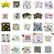 20 unids/pack Vintage Color servilleta de papel fiesta 100% de madera virgen servilleta de papel para la boda bebé decoración para el hogar, cumpleaños suministros