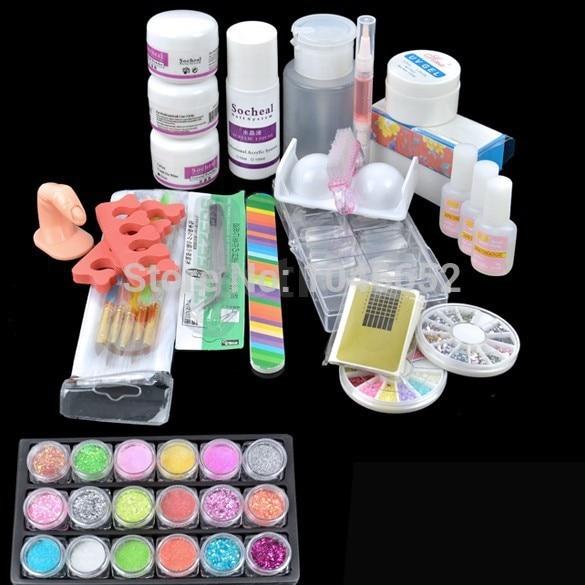Hot Prodaja Akril Glitter Puder Ljepilo File Francuski Nail Art UV - Manikura