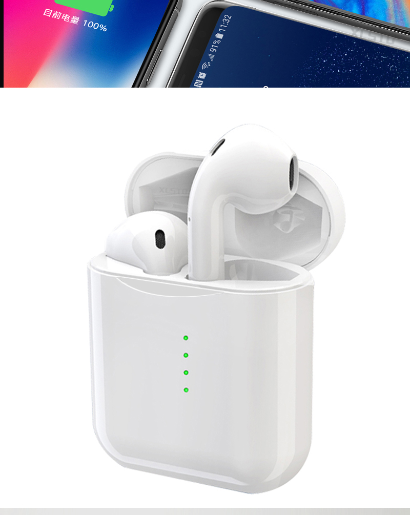 2019 Newest V8 TWS Bluetooth Headset With Pop-ups Window Wireless Bluetooth 5.0 Touch Earphones PK i10 i12 Earphones For iPhone (10)