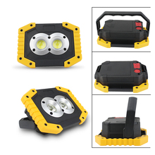 20W COB Portable LED Flood Light Waterproof USB Rechargeable LED Spotlight Work Light 18650 For Hunting Camping Outdoor Light