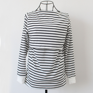 Image 3 - Maternity Clothing Spring Fashion Casual Striped O Neck Collar Long Sleeve Nursing Top Breastfeeding  For Pregnant Women