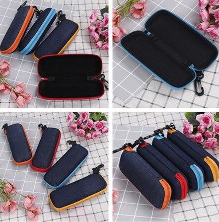 Glasses Box Denim Fabric Zipper Sunglasses Protection  Container Creative Zipper Pencil Bag School Bag Stationery