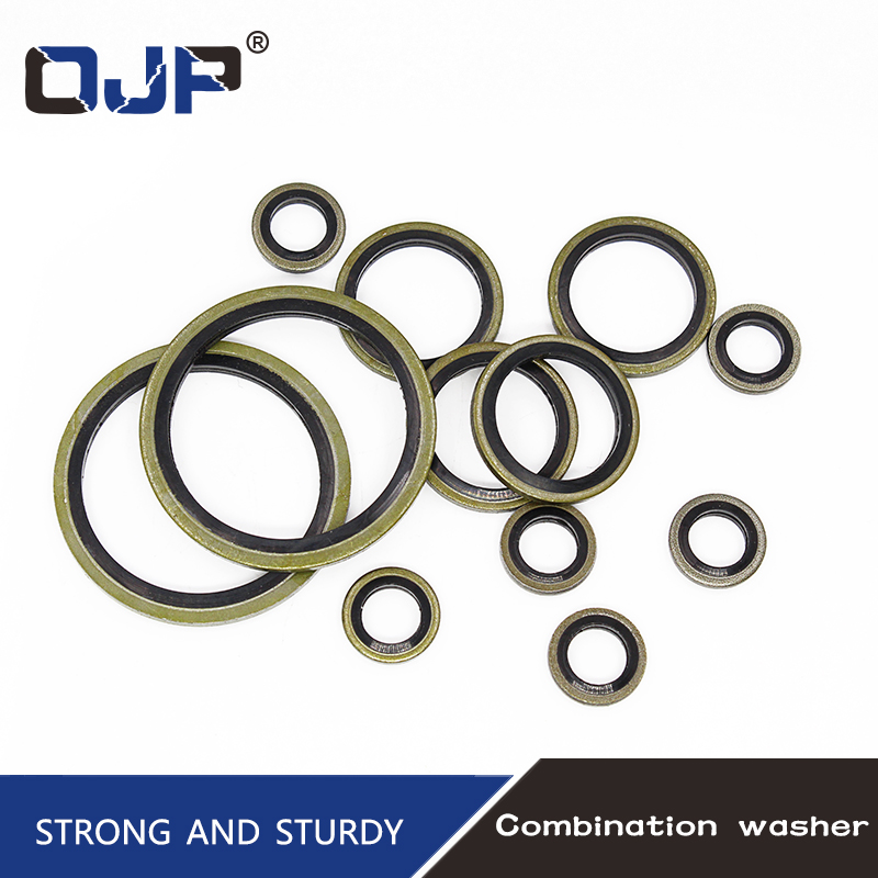 6/8/10/12/14/16~60mm Bonded Washer Metal Rubber Oil Drain Plug Gasket Fit M6/M8/M10/M12/M14/M16~M60 Combined Washer Sealing Ring