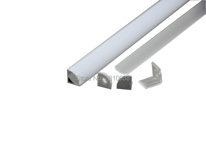 10 x 2M Sets/Lot V shape led strip aluminum channel and 60 degree angle led aluminum profile for Cabinet or wardrobe led light
