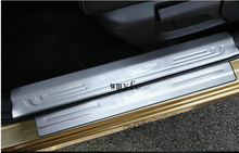 Auto door sill plate scuff plate for Nissan Qashqai 2014 2015 2016 2017,both interior and exterior, 8pcs/lot,auto accessories