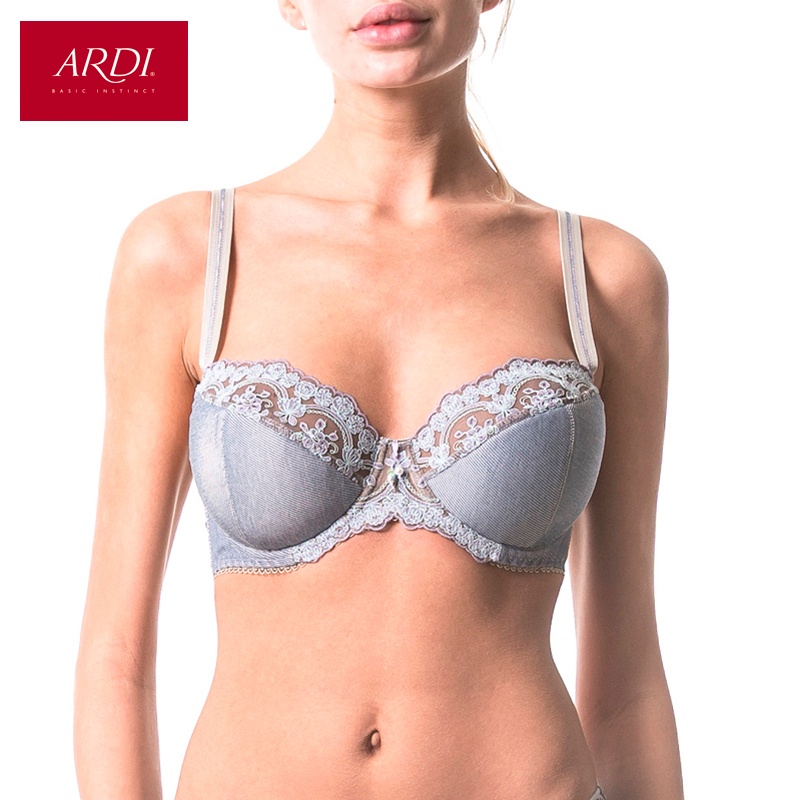 Woman's Bra With Semi-Padded Cup On The Frames With Lace For Big Size ARDI R1520-11