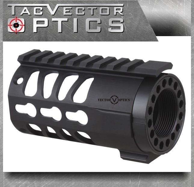 Vector Optics Tactical KeyMod 4 Inch AR Pistol Free Float Handguard Picatinny Rail Mount System Fit Real .223 5.56mm M4