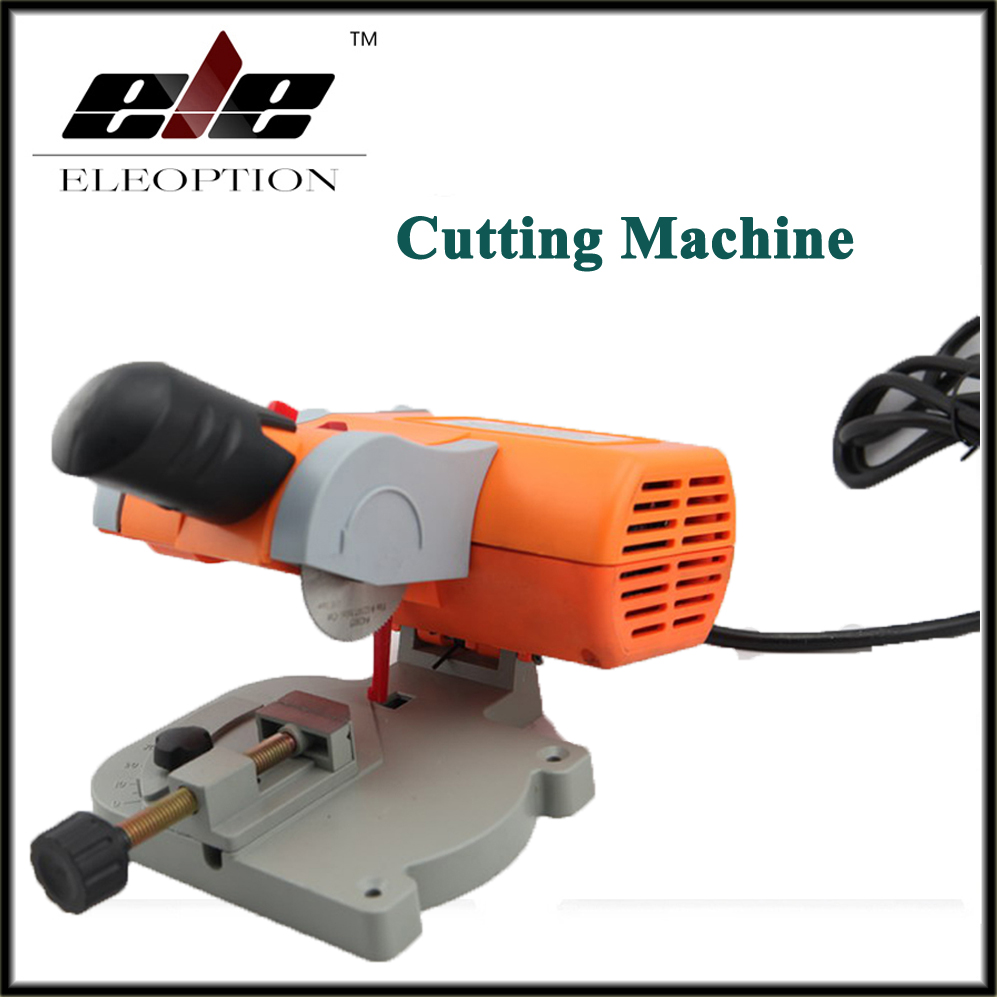 Mini Cutting Machine high speed Bench Cut-off Saw Steel Blade for cutting Metal Wood Plastic with Adjust Miter Gauge adjustable range diy saw 8 12 with diamond saw blade for jade amber sapphire cutting tool metal wire saw garland saw
