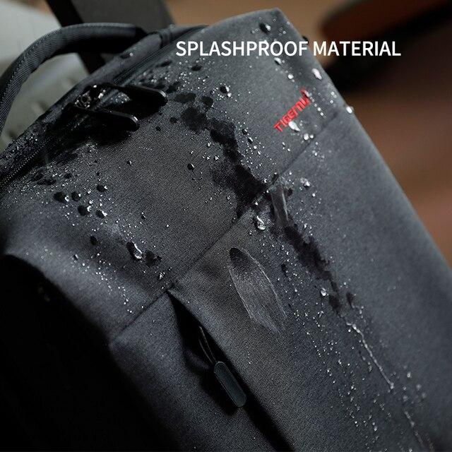 Tigernu Brand Slim Backpack USB charging Men 14 15.6 inch Laptop Backpack Women Splashproof Simple School Backpack Bag for Teens 2