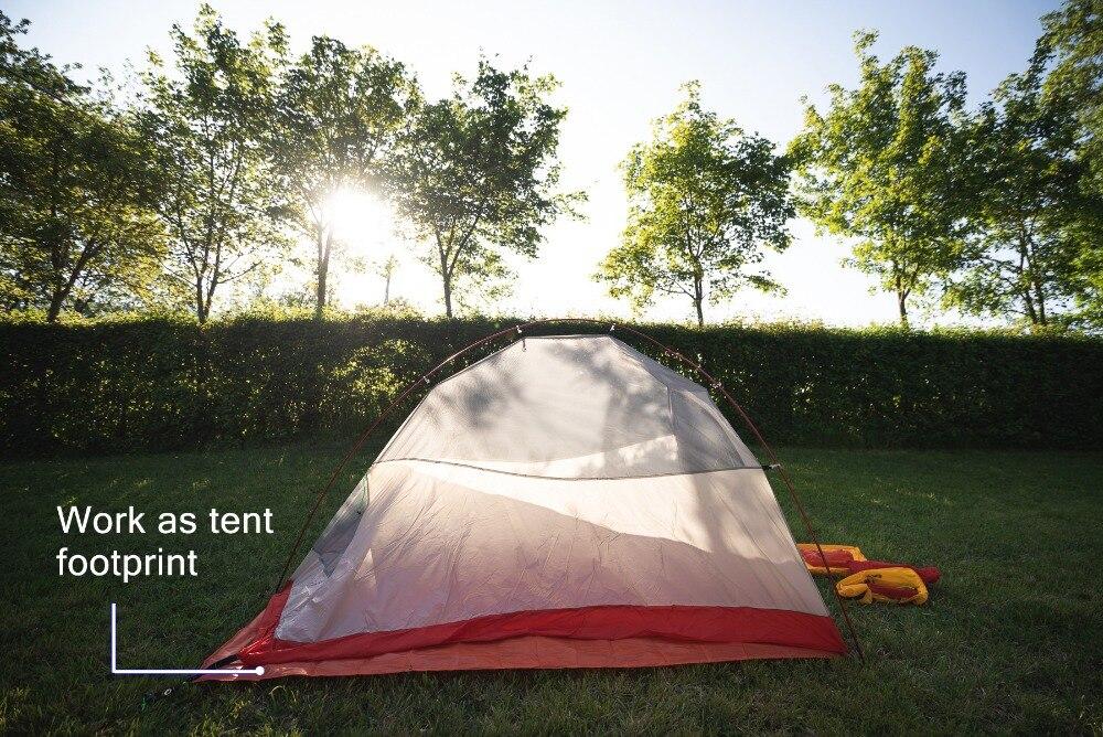 Geertop barraca de acampamento lona ultraleve tapete