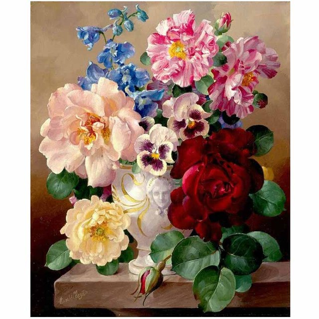 Хлопчатобумажная нить dmc вышивки крестом наборы 100% напечатаны вышивка 11ct diy ручной рукоделие цветок аватар home decor