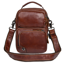 J.M.D New Products Genuine Leather Men Messenger Bag Brown Small Shoulder Bags Crossbody Bag For Young 1010B gamakatsu ls 1010b