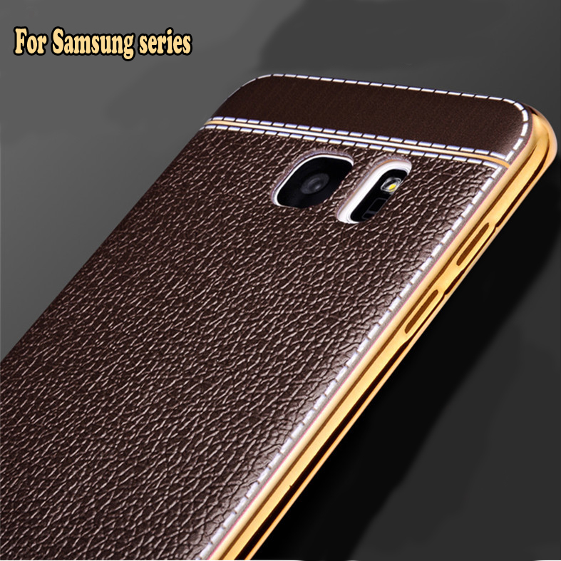 fashion soft tpu leather back cover case for samsung