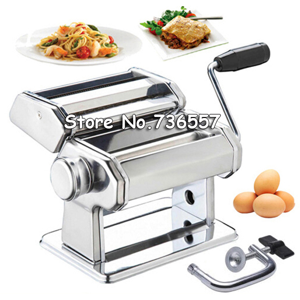 Manual Pasta Machine Stainless Steel Pasta Maker Dough Thickness Adjustable Noodle Maker Machine 2l spanish manual stainless steel churro maker machine